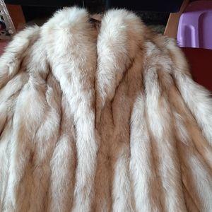 Vintage Silver fox fur jacket